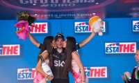 arrival of the stage Albenga - Genoa of the Tour of Italy VIVIANI Elia wins