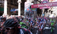 arrival of the stage Albenga - Genoa of the Tour of Italy