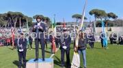 14/03/2016 VIAREGGIO (LU), il portiere del GENOA MATTIA PERIN legge il giuramento alla cerimonia di apertura della VIAREGGIO CUP 2016 con la partita INTER - AKADEMIJA PANDEV svolta allo stadio dei pini a VIAREGGIO