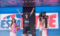 arrival of the stage Albenga - Genoa of the Tour of Italy VIVIANI Elia wins