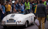 16/05/2015 Lucca, Passage of the Automobile Racing Mille Miglia from the center of Lucca